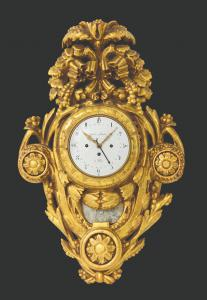 Cartel Golden clock - XVIII-XIX century
