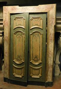 ptl532 - лакированная позолоченная дверь с крашеными панелями, l 155 xh 230 см
