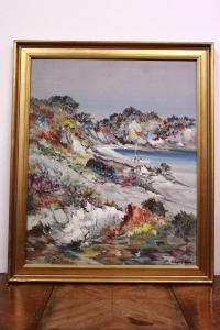 Oil painting on canvas with frame and certificate 1981