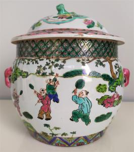 Potiche in porcellana policroma - h 24 cm - Cina, periodo Tongzhi - XIX sec.