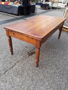 Tavolo in abete a tiro toscana fine 1800  l192xl98 aperto metri 350 restaurato classico tavolotoscano  garanzia termini di legge