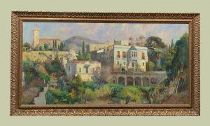 Хорди Багет (1930) - Пейзаж с каталонской деревней