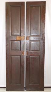 DOOR WITH TWO DOORS IN WALNUT MASSELLO '800 PANEL PORTONCINO 212X90 N1