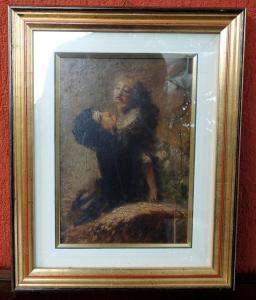 Dipinto a olio di Daniele Ranzoni  cm 16 x 26