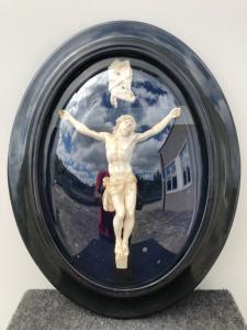 在描述Christ.France的海泡沫(菱镁矿)的浅浮雕。
