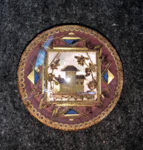 Коробка с архитектурноакустической сценой в проводе золота Внутри в черепахе европа.