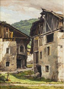 Glimpse with a wooden bridge, Piero Leidi (1892 - 1976)