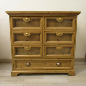 Chest of drawers in mobile pasta fir - cabinet - chest of drawers - rustic pine