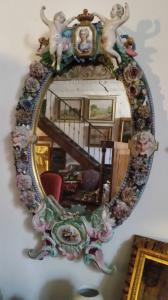 Large porcelain mirror