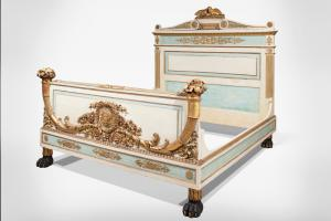 Ancient Important neoclassical double bed
