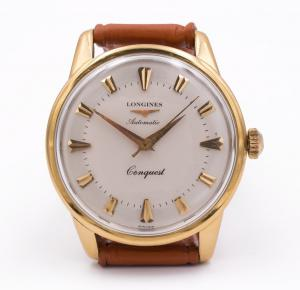 Longines Conquest Automatic Wristwatch in 18k gold