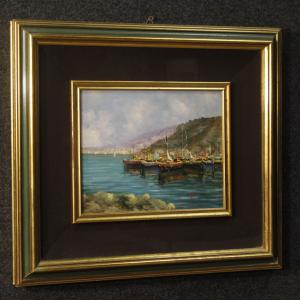 Italian signed seascape painting