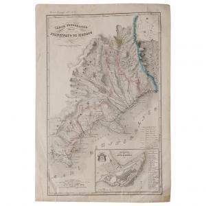 Topografische Karte des Fürstentums Monaco - ST / 619 -