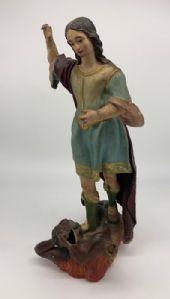 Prächtige Skulptur des Heiligen Michael und des Teufels - Spanien, spätes 18. Jahrhundert