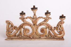 Coppia candelieri antichi in legno