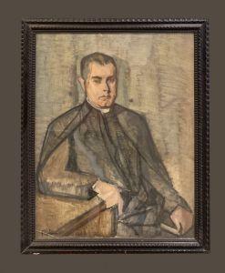西班牙学校(20世纪初)-牧师肖像