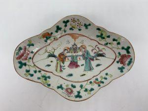 Поднос из китайского фарфора Нанкин - конец 19 века