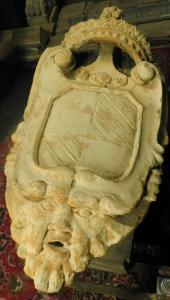 dars228 каменный герб знатного сицилийского рода, h 120 см x 60