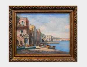 Marina olio su tela Art 1336