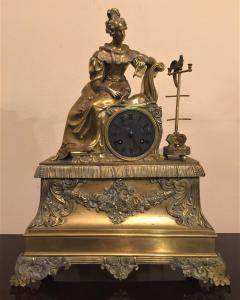 Orologio da tavolo in bronzo dorato epoca Luigi Filippo