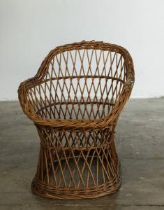 60年代儿童藤椅。