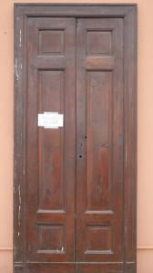 DOOR WITH TWO DOORS IN WALNUT MASSELLO '800 PANEL PORTONI WITHIN 81x218 N9
