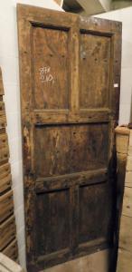 ptcr460 - дверь из каштана в деревенском стиле, 19 век, размер 87 xh 210 см