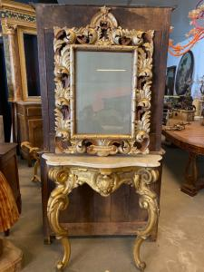 Consolles and mirror 115x44x105h mirror 85x125h