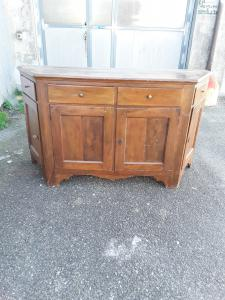 Venetian sideboard in walnut 4 doors 4 drawers notched end 1700 l185xp60xh104 warranty terms of law