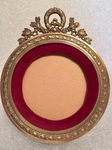 Portafoto/portaminiatura in bronzo fine '800