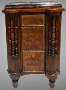 Walnut cabinet with three drawers with Napoleonic decorations