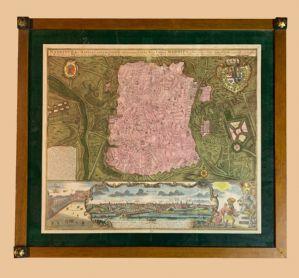 Matthaus Seutter (1678-1757) - belo mapa de Madrid a 1730