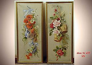 Pair of oil paintings on canvas - Pair of oil paintings on canvas