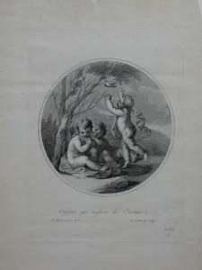 Ancient Italian engraving by Francesco Bartolozzi