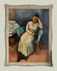 Escuela francesa (mediados del siglo XX) - La mujer amarilla