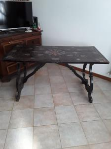 Fratino Senese table ebony lire ivory ebony rosewood veneer top hard stones some missing pieces on the top l150x 73xh78 warranty terms of the law