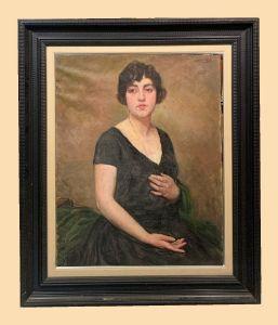 Albert Ràfols (1892-1986) - Retrato de una mujer joven