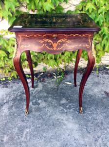 Elegante Tavolino da salotto Luigi XV Intarsiato - Restaurato