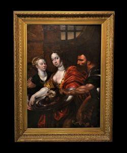 Scuola Veneziana (metà XVII secolo) - Salomè Presentata Con La Testa Del Battista
