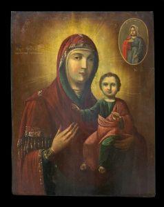 Russian School (XVIII-XIX) - Impressive Icon of Our Lady of Smolensko