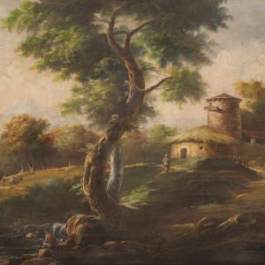 Итальянская буколическая пейзажная живопись