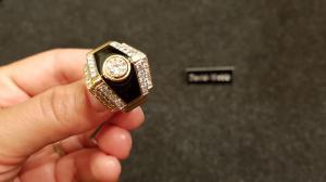 David Webb Ring in 18 Karat Gold mit Diamanten und Brillanten