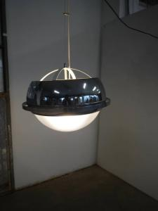 UFO chandelier in steel and plexissis from the 60s