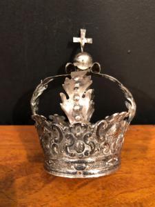 Coroa de prata da estátua. Itália