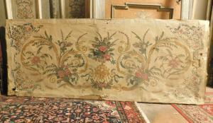 pan251 - paliotto carta su tela, epoca '800, cm l 218 x h 90