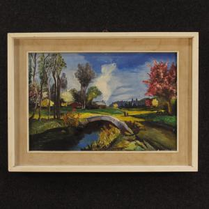 French landscape painting in Impressionist style