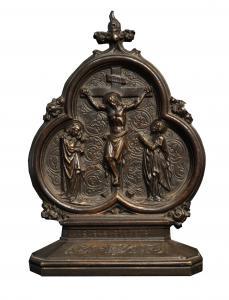 Frieden, der die Kreuzigung darstellt, 18. Jahrhundert