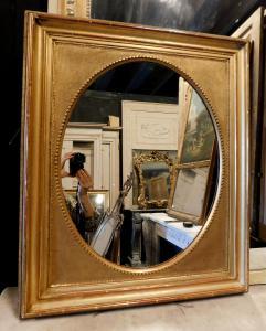 specc342 - vergoldeter Spiegel, zweite Hälfte des 19. Jahrhunderts, Maße cm L 62 x H 74