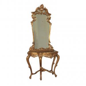 Consolle con Specchiera in Stile Rococò