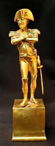 Statuette depicting Napoleon. Gilded bronze.